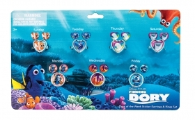 DISNEY finding DORY - 7 Pairs Earrings Stickers And 7 Rings