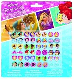 FANTASTIC SET - 24 Pairs of earring Stickers-DISNEY - PRINCESSES