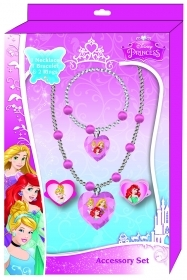 Set BRACELET NECKLACE AND 2 Rings accessories Disney PRINCESSES
