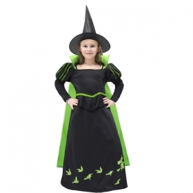 DRESS COSTUME Mask CARNIVAL Halloween - GREEN WITCH