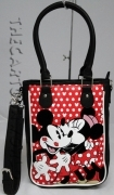SHOPPER BAG with shoulder Strap Removable - Disney MINNIE and MICKEY mouse red