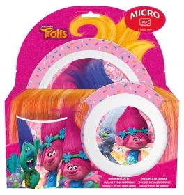 SET JELLY In Melanin, Microwave - Dishes, Glass-DISNEY - TROLLS