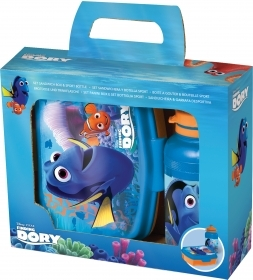 Portamerenda with water-BOTTLE Plastic - DISNEY DORY and NEMO