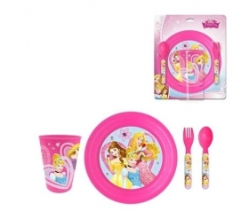 SET JELLY 3D - Flat Glass Cutlery DISNEY PRINCESSES