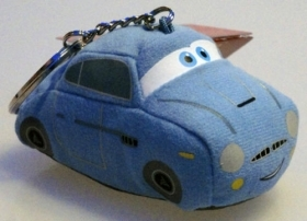 PLUSH KEYCHAIN DISNEY CARS 2 - FINN MC MISSILE