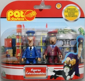 Set of 2 mini figures The postman Pat - Postman Pat - Pat and the Station master Ajaj