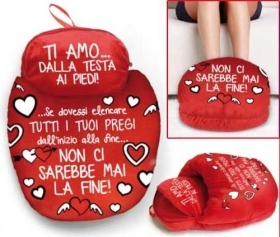 FANTASTIC PLUSH PANTOFOLONE VELVET IDEA FOR VALENTINE'S DAY