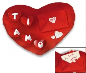 Fantastic, HEART in Velvet, with POCKET AND small HEARTS IDEA SAN VALENTIVO