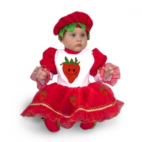 DRESS COSTUME CARNIVAL Mask NEWBORN - STRAWBERRY