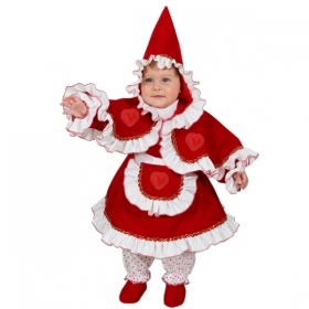 DRESS COSTUME CARNIVAL Mask NEWBORN - little RED riding HOOD