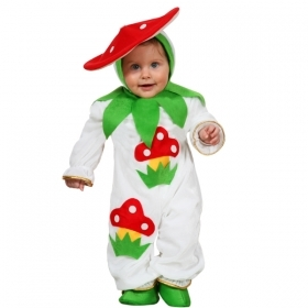 DRESS COSTUME CARNIVAL Mask NEWBORN - MUSHROOM