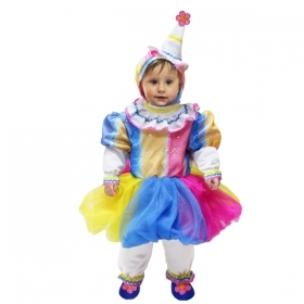 DRESS COSTUME CARNIVAL Mask NEWBORN - PAGLIACCETTA