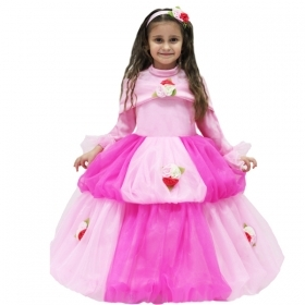 DRESS COSTUME Mask CARNIVAL baby - in THE PINK