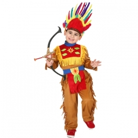 DRESS COSTUME Mask CARNIVAL, baby - INDIAN