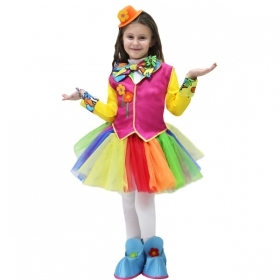 DRESS COSTUME CARNIVAL Mask girl - PAGLIACCETTA