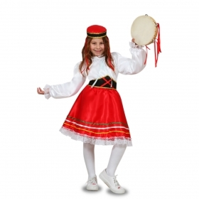 DRESS COSTUME CARNIVAL Mask girl - TARANTELLA