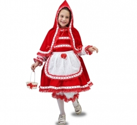 DRESS COSTUME CARNIVAL Mask girl - little RED riding HOOD LUXURY