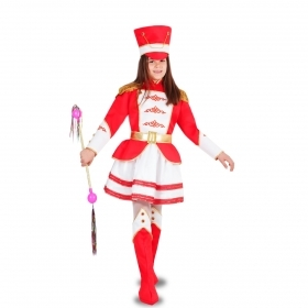 DRESS COSTUME CARNIVAL Mask girl - MAJORETTE RED