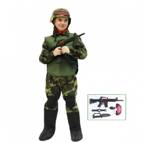 DRESS COSTUME Mask CARNIVAL kid - MILITARY Soldier DESERT STORM