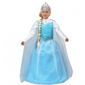 DRESS COSTUME CARNIVAL Mask girl - FROZEN ELSA p