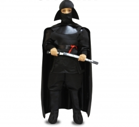 DRESS COSTUME Mask CARNIVAL kid - SAMURAI BLACK Star Wars
