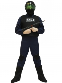 DRESS COSTUME Mask CARNIVAL kid - COP SWAT S. W. A. T.