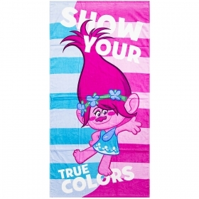 Beach TOWEL / swimming Pool TROLLS - POPPY - 70x140 cm