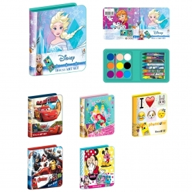 SET DA 24 ASTUCCI COLORI DISNEY FROZEN CARS AVENGERS MINNIE PRINCIPESSE