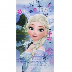 Beach TOWEL / swimming Pool DISNEY FROZEN - ELSA 70x140 cm