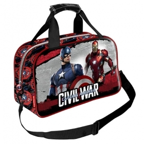 BAG HOLDALL Gym-MARVEL's AVENGERS CIVIL WAR, CAPTAIN AMERICA and IRON MAN