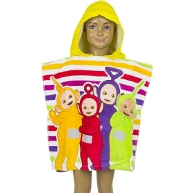 PONCHO BATHROBE-TOWEL TELETUBBIES yellow