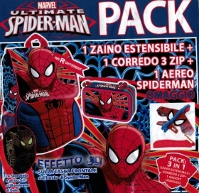 BACKPACK Extensible School DISNEY MARVEL SPIDERMAN more pencil Case 3 zip with 45 pieces more gadgets