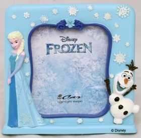 PHOTO FRAME in Resin, DISNEY - FROZEN Elsa and Olaf