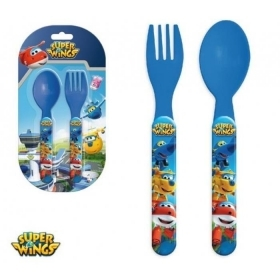 SET JELLY Plastic Cutlery - Spoon and Fork - SUPER WINGS -