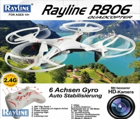 DRONE Quadricopter RC Rayline R806 2.4 GHz 4 channel with camera HD WI-FI