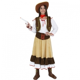 DRESS COSTUME CARNIVAL Mask for Adults - COW GIRL