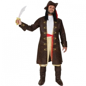 DRESS COSTUME CARNIVAL Mask - Adult Pirate Captain JACK