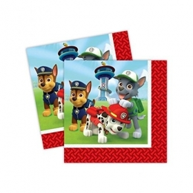 DECORATIONS Birthday Party NAPKINS in the PAW PATROL 20 napkins from 2-ply 33x33cm