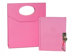 SECRET DIARY in gift Box with Padlock and Key CHAMOMILE