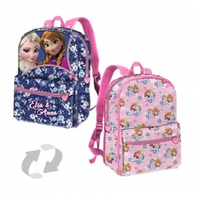 BAG BACKPACK Schoolbag Free Time-Reversible - DISNEY FROZEN - ELSA and ANNA