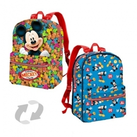 BAG BACKPACK Schoolbag Free Time-Reversible - DISNEY MICKEY mouse MICKEY