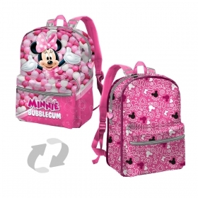 BAG BACKPACK Schoolbag Free Time-Reversible - DISNEY MINNIE