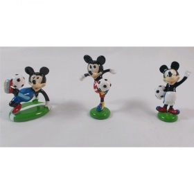 CANDY box IN Glossy Resin DISNEY MICKEY mouse Footballer 4.5 Cm