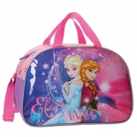 BAG DUFFEL bag with shoulder Strap - Gym-DISNEY FROZEN ELSA and ANNA new
