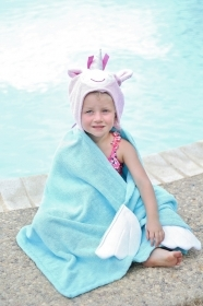 TOWEL Bathrobe With a hood and hands ALLIE The UNICORN