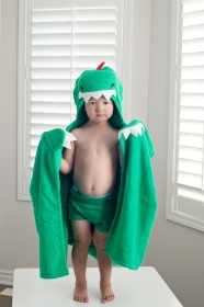 TOWEL Bathrobe With a hood and hands DEVIN the DINOSAUR