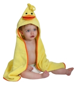 TOWEL Bathrobe BABY hooded Puddles The DUCKLING