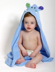 TOWEL Bathrobe for BABY With hood HENRY THE HIPPO