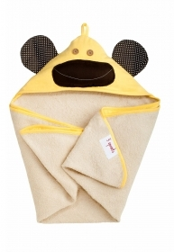 TOWEL Bathrobe Triangle With hood - MONKEY Yellow