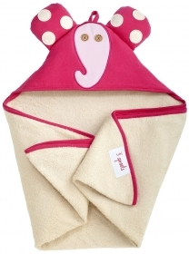 TOWEL Bathrobe Triangle With hood and PINK ELEPHANT